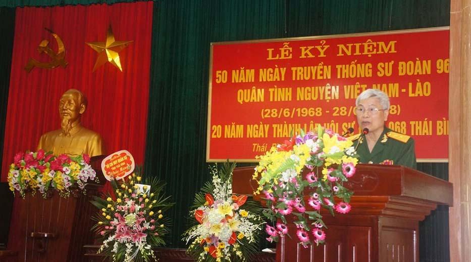 Gặp mặt truyền thống kỷ niệm 50 năm ngày thành lập Sư đoàn 968 và 20 năm ngày thành lập BLL Sư đoàn 968 tỉnh Thái Bình