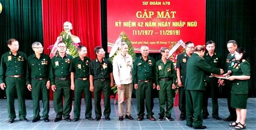 Ban liên lạc Hội Trường Sơn Sư 470 Thừa Thiên Huế kỷ niệm 43 năm ngày nhập ngũ