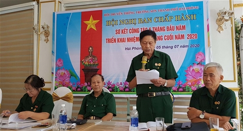 Hội nghị sơ kết 6 tháng đầu năm - Hội  truyền thống Trường Sơn thành phố Hải Phòng