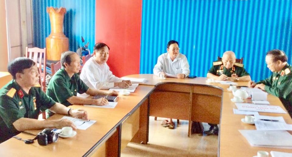 Lãnh đạo TW Hội TS thăm và làm việc với Hội T.Sơn tỉnh Gia Lai