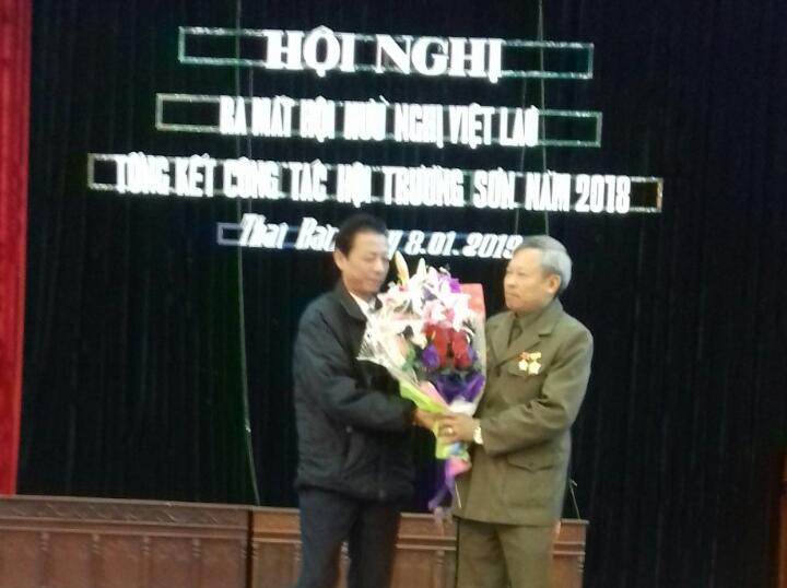 Hội Trường Sơn xã Thái Bảo tổng kết năm 2018,  ra mắt Hội hữu nghị Việt - Lào