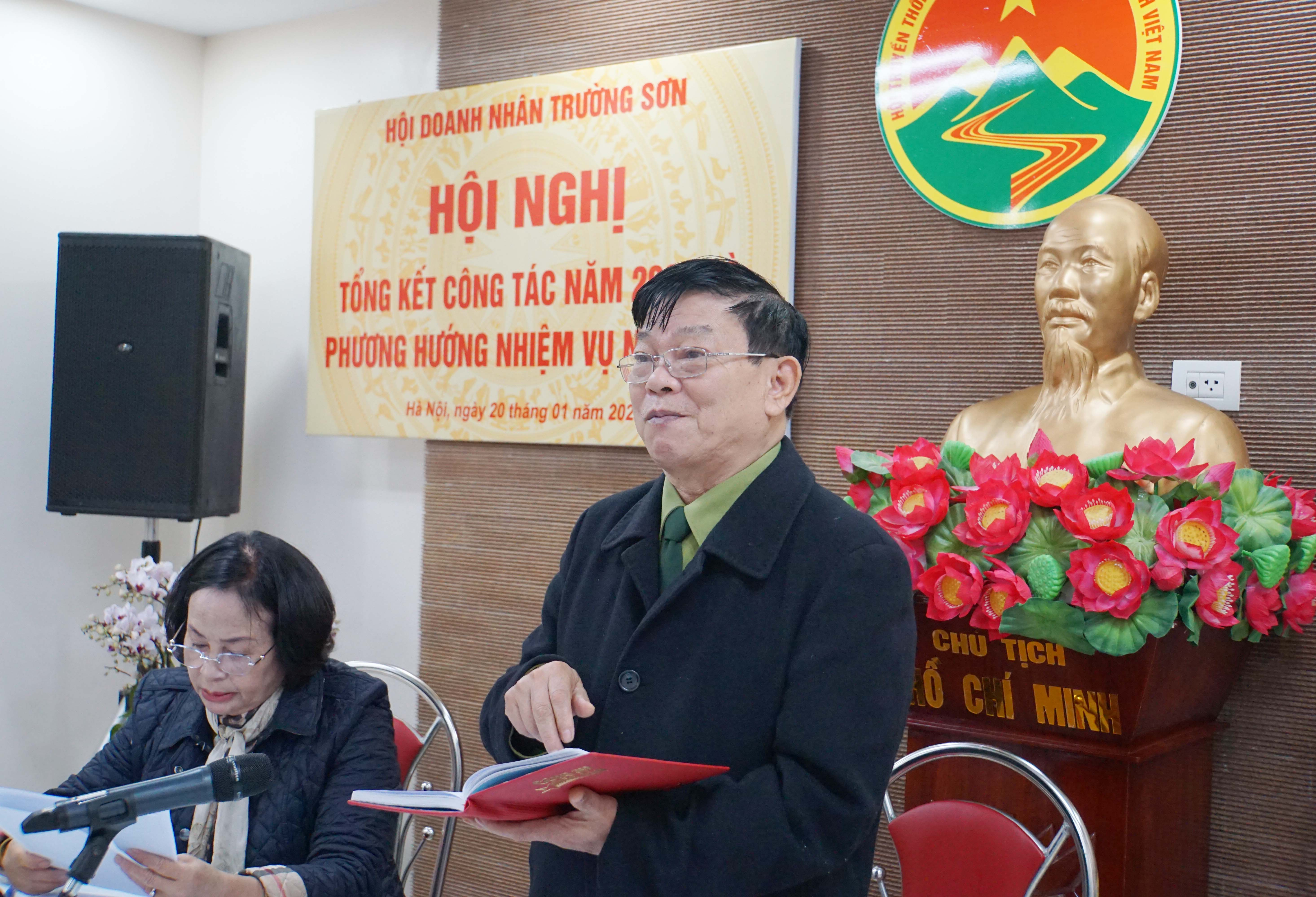 Hội nghị tổng kết công tác năm 2020 - Hội Doanh nhân Trường Sơn Việt Nam
