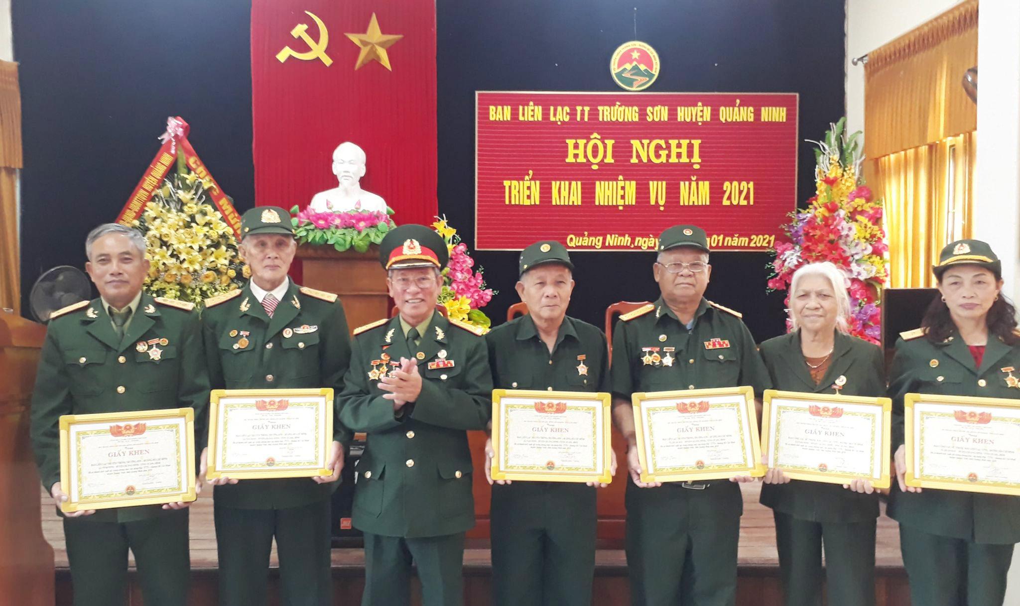 Hội nghị Tổng kết năm 2020 của Ban LL Hội Trường Sơn huyện Quảng Ninh, Quảng Bình