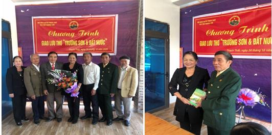 Chương trình giao lưu thơ của  Câu lạc bộ Thơ Trường Sơn huyện Thạch Thất, Hà Nội