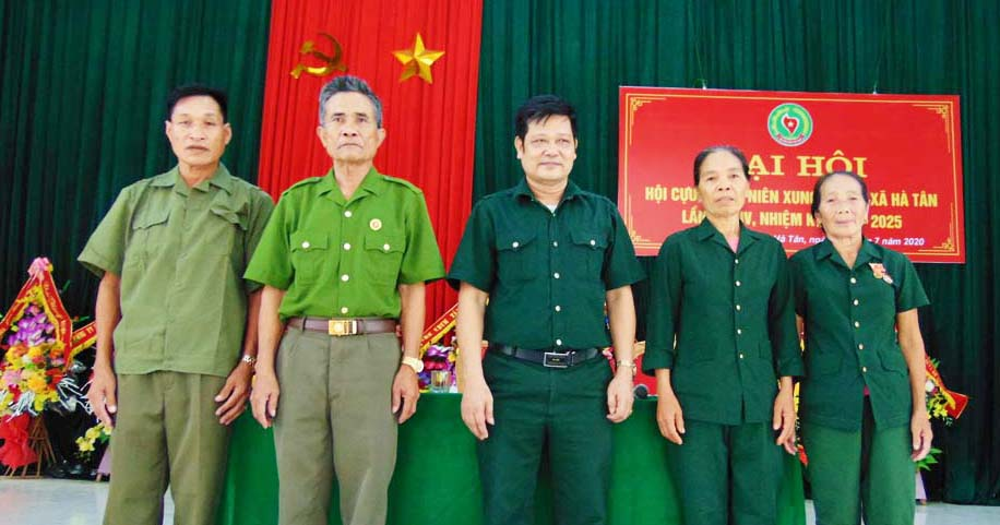 Đại hội nhiệm kỳ IV Hội Cựu TNXP xã Hà Tân, huyện Hà Trung, tỉnh Thanh Hóa