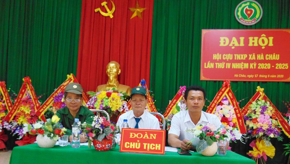 Đại hội nhiệm kỳ IV Hội Cựu TNXP xã Hà Châu, huyện Hà Trung, tỉnh Thanh Hóa
