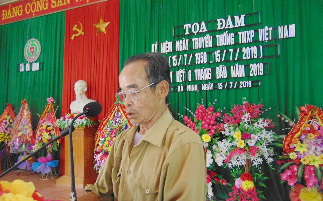 Hội Cựu TNXP xã Hà Ninh - Hà Trung - Thanh Hóa. Tọa đàm kỷ niệm 69 năm ngày truyền thống TNXP