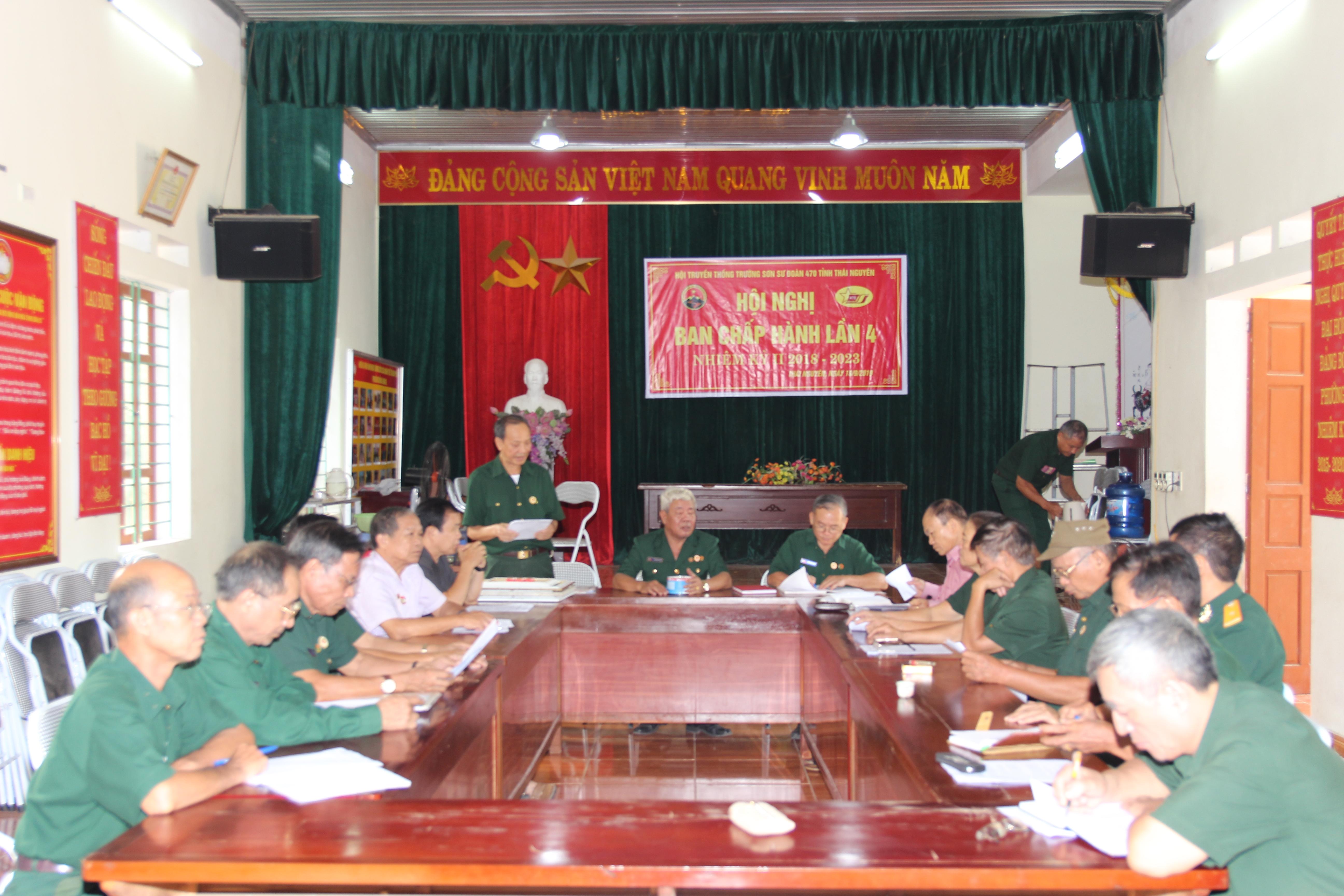 Hội nghị BCH Hội Trường Sơn Sư đoàn 470 tỉnh Thái Nguyên