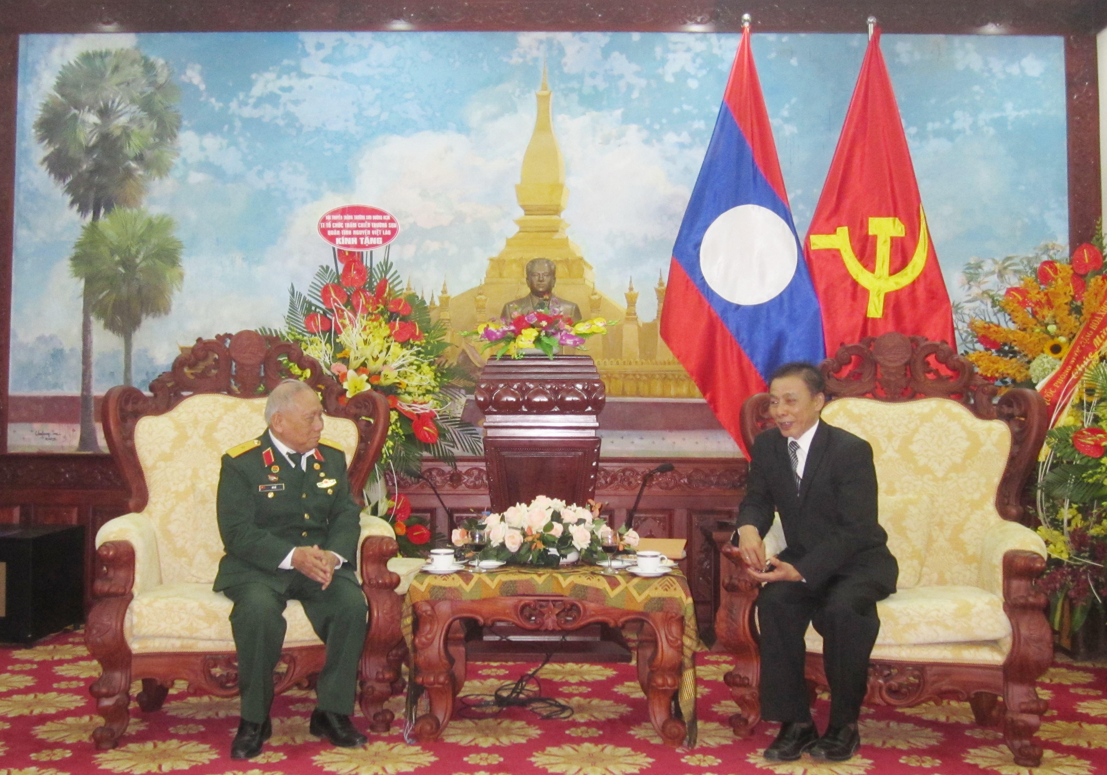 Hội Trường Sơn chúc mừng ngày thành lập QĐND Lào.
