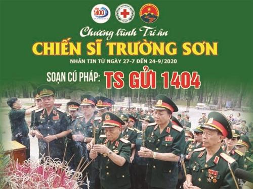 DANH SÁCH ỦNG HỘ NHẮN TIN TRI ÂN CHIẾN SỸ TRƯỜNG SƠN (ngày 27/7/2020)