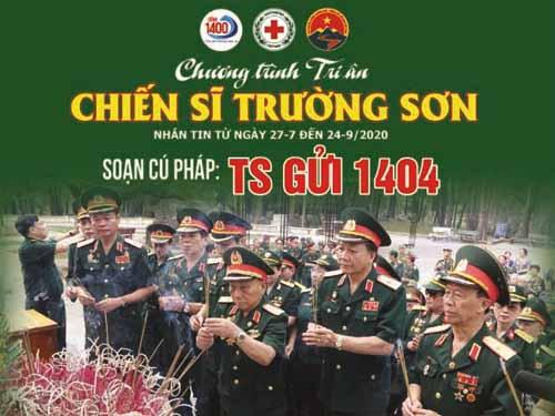 """Hơn 898 triệu đồng """"Tri ân chiến sĩ Trường Sơn"""""""