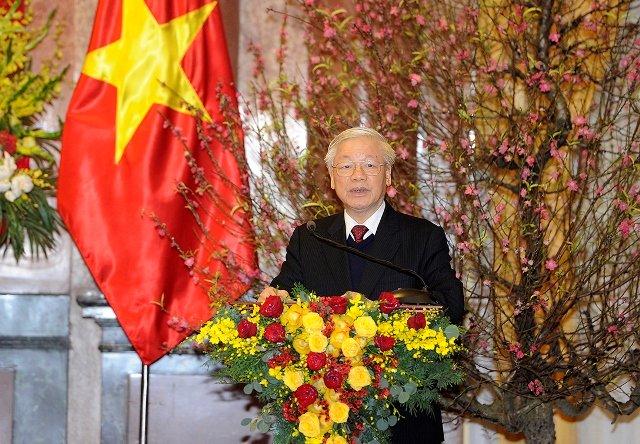 Tổng Bí thư, Chủ tịch nước Nguyễn Phú Trọng chúc Tết lãnh đạo Đảng, Nhà nước, đồng bào chiến sĩ cả nước