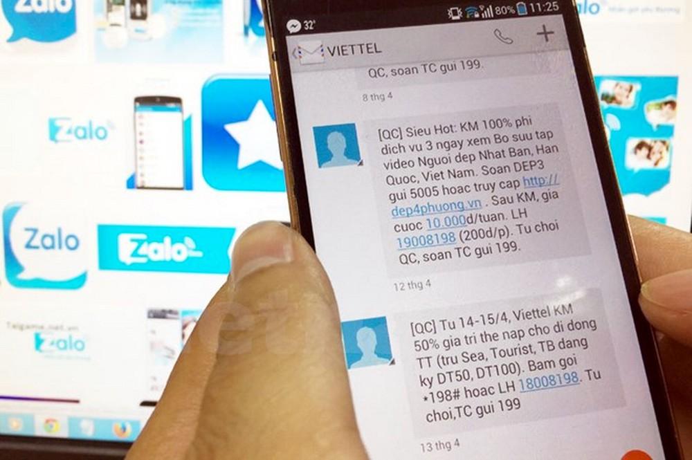 Từ 15/4, gửi Email, tin nhắn rác bị phạt đến 80 triệu đồng